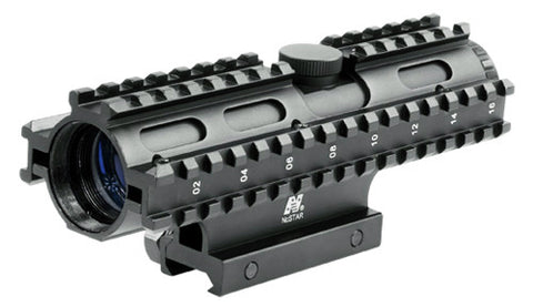 4X32 Compact Scope/3 Rail Sighting System MIL-DOT/Blue/Weaver Mount - NC Star