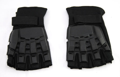 Social Paintball SMPL Armor Gloves - Fingerless - Black - Social Paintball