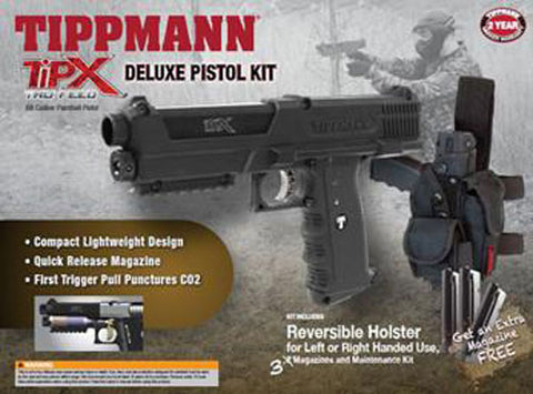 Tippmann TiPX Paintball Deluxe Pistol Kit - Tippmann Sports