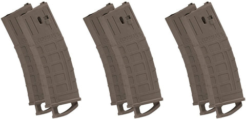 Tippmann TMC Magazine 6 Pack - 20 Ball - Dark Earth (Tan) - Tippmann Sports