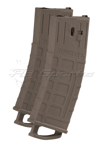 Tippmann TMC Magazine 2 Pack - 20 Ball - Dark Earth (Tan) - Tippmann Sports