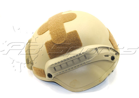 V Tactical Airsoft Helmet MICH 2000 w/Mount&Rails Tan - Valken Paintball