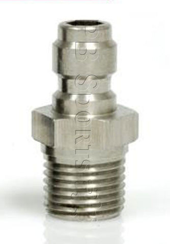 Techt Paintball Lo-Pro Fill Nipple - Silver