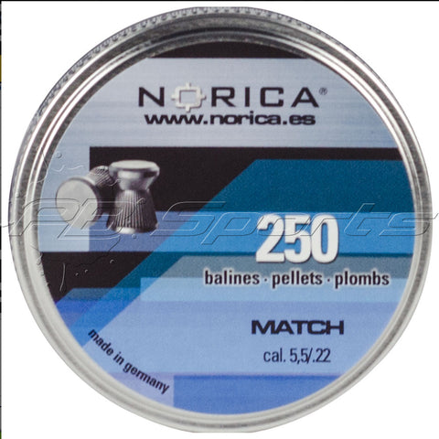 Norica 0.22 Cal Match Pellets - 250 Count Tin