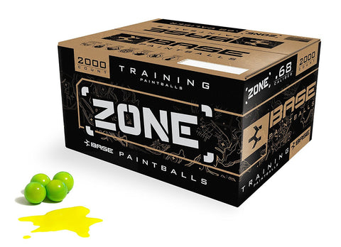 2000 Count Virtue Base Zone Paintballs Lime Shell Yellow Fill