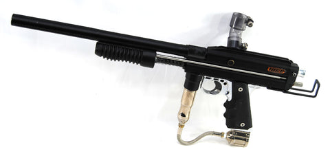 Used WGP Right Hand Feed Pump Paintball Gun w/ Dye Frame - Black