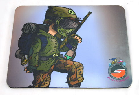 Social Paintball Mouse Pad - Speedball Cartoon Series - Weekend Warrior - Social Paintball
