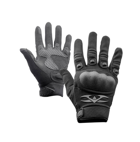 Valken Zulu Full Finger Gloves - Black - X-Large - Valken Paintball