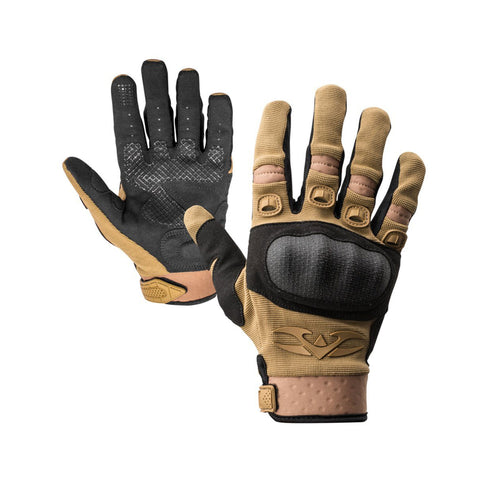 Valken Zulu Full Finger Gloves - Tan - Large - Valken Paintball