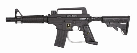 Tippmann U.S. Army Alpha Black Tactical Edition w/eGrip - Tippmann Sports
