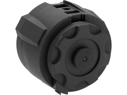 Angel Custom 1500 Round Firestorm Airsoft AEG Drum Flashmag (Body Only) - Black - Evike