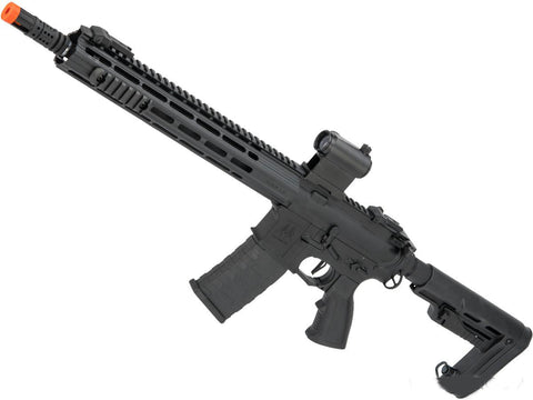 "APS Full Metal Spyder M-LOK 2.0 eSilverEdge M4 Airsoft AEG Rifle - (Length: 13"") - Evike"