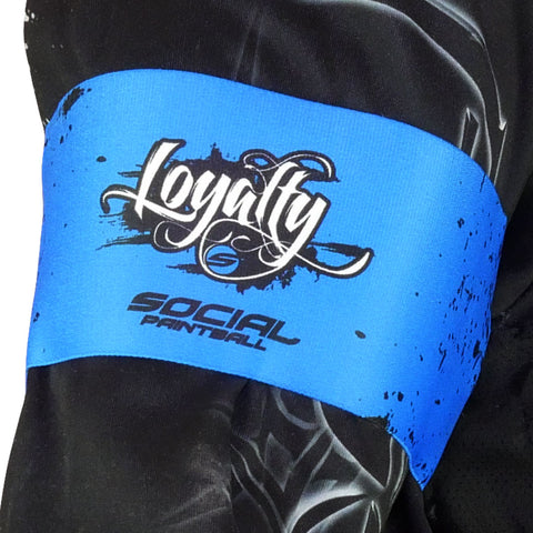 Social Paintball Team Armband - Loyalty - Blue - Social Paintball