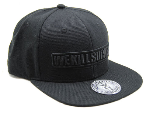 Bunker Kings WKS Adjustable Snapback Hat Black/Black - One Size Fits Most - Bunker Kings