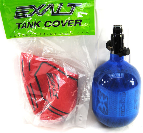 Empire Basics Carbon Fiber 48ci / 4500psi tank BLUE w/ Exalt tank cover - Empire