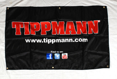 Tippmann Sports Cloth Banner - Block Letter Logo