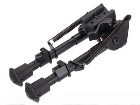 All-Platform Real Steel Retractable Harris Type Bipod (RIS + Stud Sniper Mount) - Evike