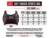 Social Paintball Grit Padded Sports Bra - Stealth Black - Small