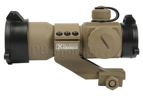 Killhouse Tactical Red/Green/Blue Dot Sight with Cantilever Mount - Tan