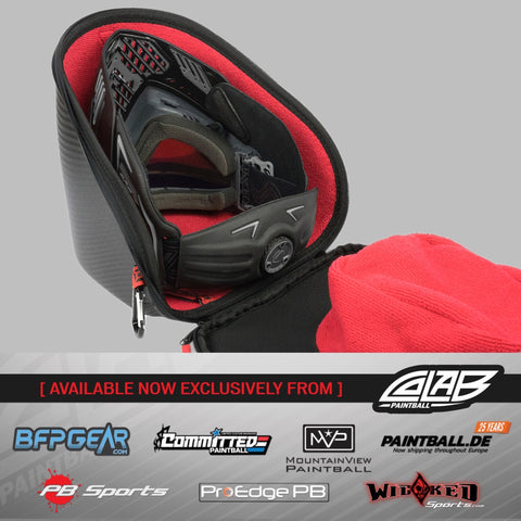 Exalt Carbon Universal Goggle Case - V3 Black/Red - Exalt