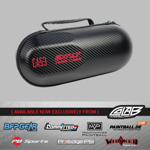 Exalt Carbon Tank Case - Black/Red
