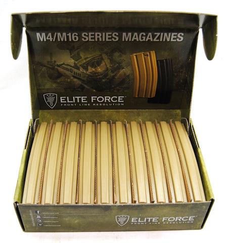 Elite Force M4/M16 140Rd Mid Cap Magazine 10 Pack - Dark Earth Brown - Umarex