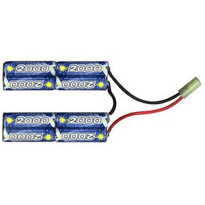 Intellect 9.6v 2000 mah Mini Connector Airsoft Battery