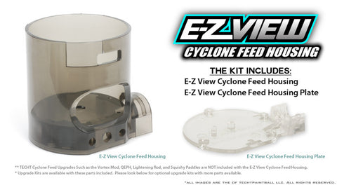 TechT EZ View Polycarbonate Cyclone Feed Housing Kit - TechT
