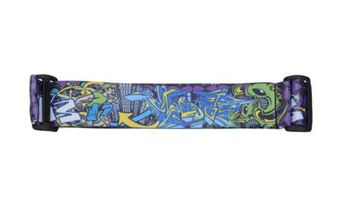 KM Strap - Graffiti Fish - Purple Black