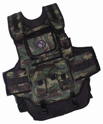 GxG Tactical Paintball Vest - Woodland Camo