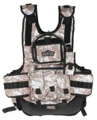 GxG Tactical Paintball Vest - Digital Camo Brown/Desert