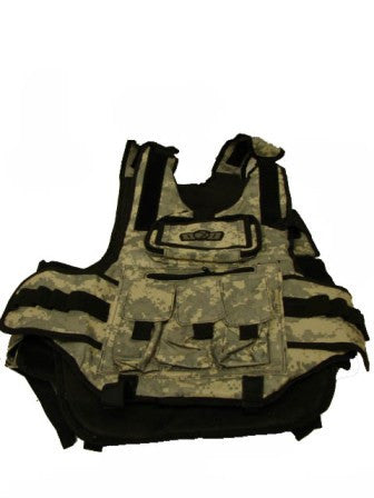 GxG Tactical Paintball Vest - Digital Camo Woodland/Green