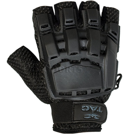 Valken V-Tac Half Finger Plastic Gloves - Black - Valken Paintball