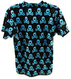 HK Army Dry Fit T-Shirt All Over Black/Cyan - Small - HK Army