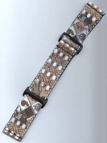 KM Strap - Brown Skull Plaid Limited Edition - KM