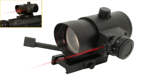 NC Star 1x40mm Tactical Red Dot Sight with Laser - NC Star