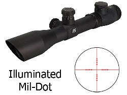NcStar Mark 3 Scope 1.5-6x 40mm Green Illuminated - NC Star