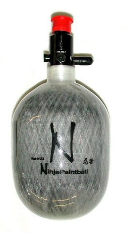 Ninja 50ci 4500psi Grey Ghost HPA Tank - Ninja Paintball