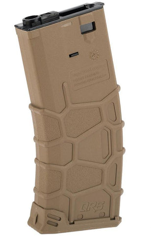 VFC QRS Polymer Magazine for M4 / M16 Series Airsoft AEGs 300rd Hi-Cap / Tan - Elite Force