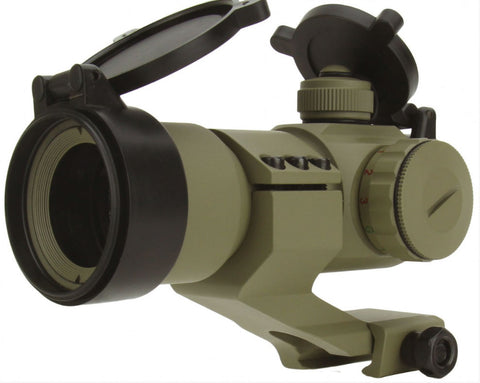 TACFIRE 1x30 Tri Illuminated RGB Dot Sight With Cantilever Mount - Tan - TACFIRE