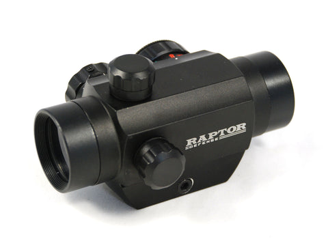 Raptor Defense 1x25 Compact Dot Sight - 4 Reticle - Dual Illumination (Red/Green) - Raptor Defense