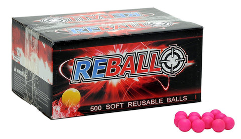 Reball practice paintballs - Case of 500 - Pink