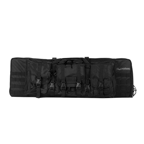 "Valken Tactical 46"" Double Rifle Case - Black - Valken Paintball"