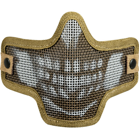 Valken Tactical Kilo 2G Wire Mesh Airsoft Mask Skull - Tan - Valken Paintball