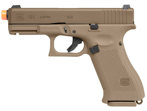 Elite Force Glock G19X Gen Green Gas Airsoft Pistol Half Blow Back - Coyote Tan - Elite Force