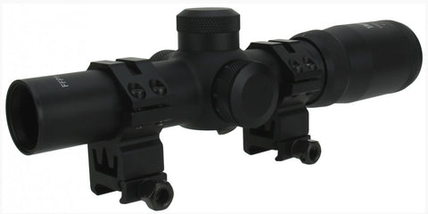 TacFire 1-4x24 Tri. Illuminated Tactical First Focal Plane Scope Mil-Dot Reticle