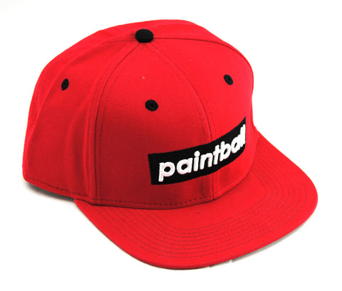 Social Paintball Snapback Hat - Red - Social Paintball