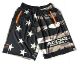 Social Paintball Grit Shorts - American Camo - L/XL - Social Paintball