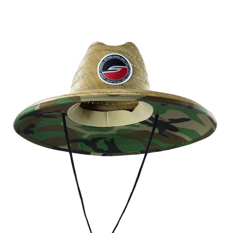 Social Paintball Straw Hat - Woodland Camo - Social Paintball