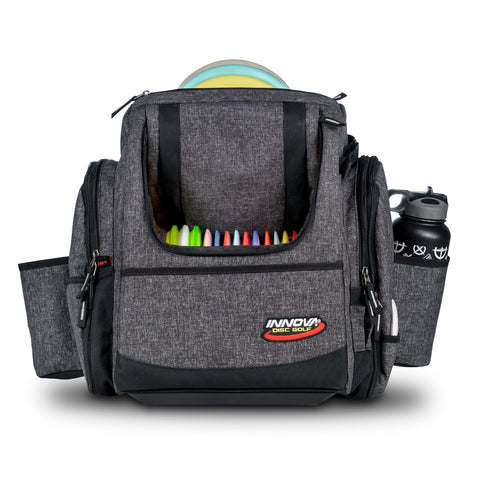 Innova Super HeroPack II Backpack Disc Golf Bag - Black Heather - Innova